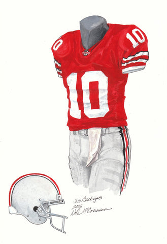 Ohio State Buckeyes 2006 - Heritage Sports Art - original watercolor artwork - 1