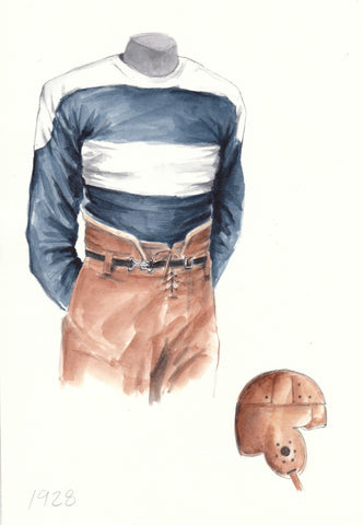Penn State Nittany Lions 1928 - Heritage Sports Art - original watercolor artwork - 1