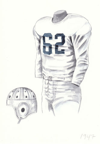 Penn State Nittany Lions 1947 - Heritage Sports Art - original watercolor artwork - 1