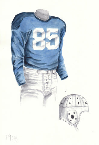 Penn State Nittany Lions 1948 - Heritage Sports Art - original watercolor artwork - 1