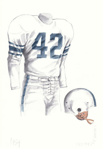 Penn State Nittany Lions 1954 - Heritage Sports Art - original watercolor artwork - 1