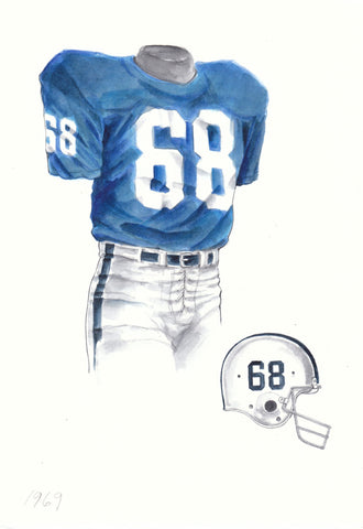 Penn State Nittany Lions 1969 - Heritage Sports Art - original watercolor artwork - 1