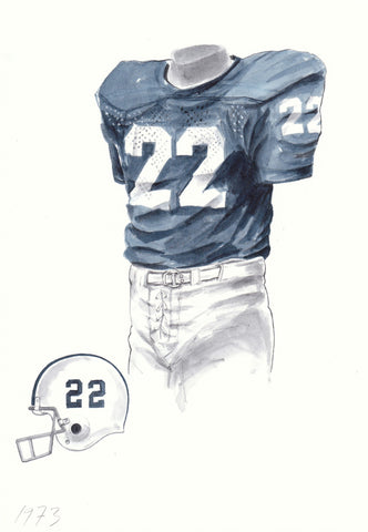Penn State Nittany Lions 1973 - Heritage Sports Art - original watercolor artwork - 1