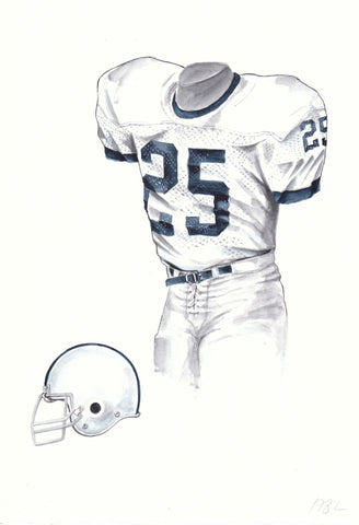 Penn State Nittany Lions 1982 - Heritage Sports Art - original watercolor artwork - 1