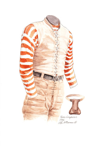 Texas Longhorns 1896 - Heritage Sports Art - original watercolor artwork - 1