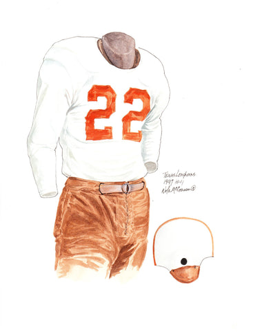 Texas Longhorns 1947 - Heritage Sports Art - original watercolor artwork - 1