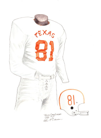 Texas Longhorns 1959 - Heritage Sports Art - original watercolor artwork - 1