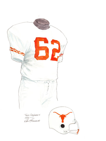 Texas Longhorns 1970 - Heritage Sports Art - original watercolor artwork - 1