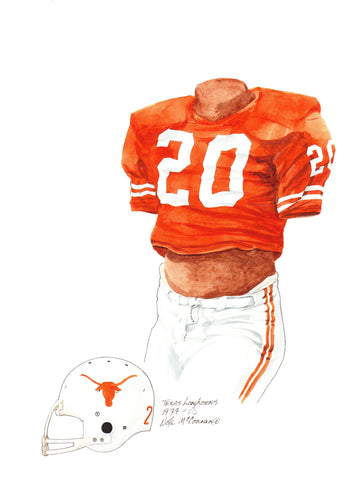 Texas Longhorns 1977 - Heritage Sports Art - original watercolor artwork - 1