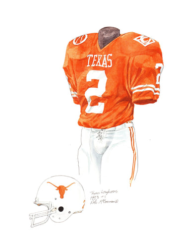 Texas Longhorns 1983 - Heritage Sports Art - original watercolor artwork - 1