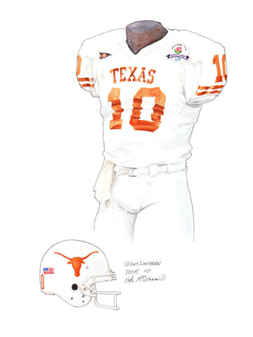 Texas Longhorns 2005 - Heritage Sports Art - original watercolor artwork - 1
