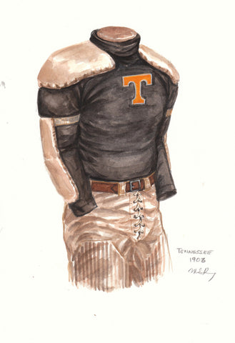 Tennessee Volunteers 1903 - Heritage Sports Art - original watercolor artwork - 1