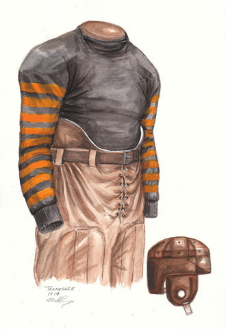 Tennessee Volunteers 1914 - Heritage Sports Art - original watercolor artwork - 1