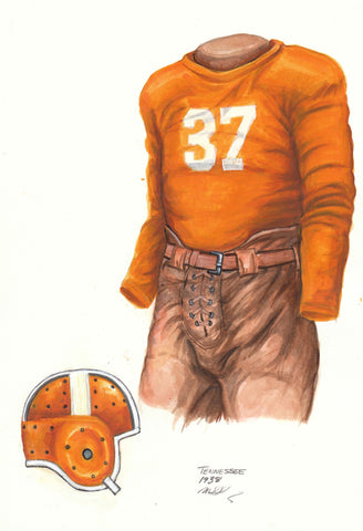 Tennessee Volunteers 1938 - Heritage Sports Art - original watercolor artwork - 1