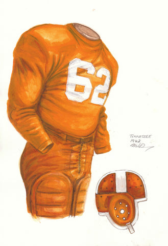 Tennessee Volunteers 1942 - Heritage Sports Art - original watercolor artwork - 1