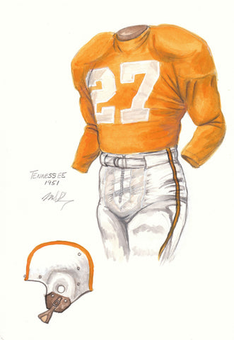 Tennessee Volunteers 1951 - Heritage Sports Art - original watercolor artwork - 1