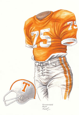 Tennessee Volunteers 1967 - Heritage Sports Art - original watercolor artwork - 1