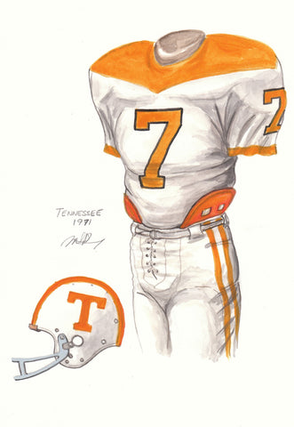Tennessee Volunteers 1971 - Heritage Sports Art - original watercolor artwork - 1