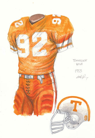 Tennessee Volunteers 1983 - Heritage Sports Art - original watercolor artwork - 1