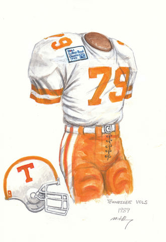 Tennessee Volunteers 1989 - Heritage Sports Art - original watercolor artwork - 1