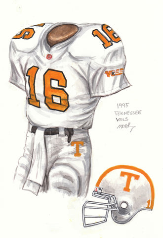 Tennessee Volunteers 1995 - Heritage Sports Art - original watercolor artwork - 1