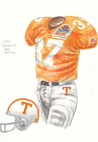 Tennessee Volunteers 1998 - Heritage Sports Art - original watercolor artwork - 1