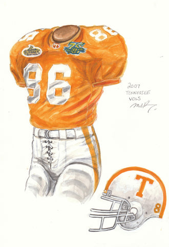 Tennessee Volunteers 2007 - Heritage Sports Art - original watercolor artwork - 1