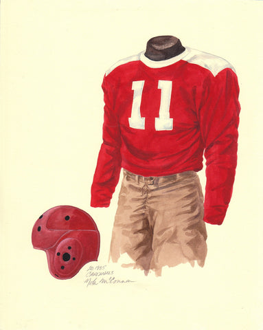 Arizona Cardinals 1935 - Heritage Sports Art - original watercolor artwork - 1
