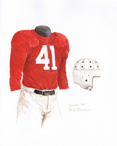 Arizona Cardinals 1947 - Heritage Sports Art - original watercolor artwork - 1