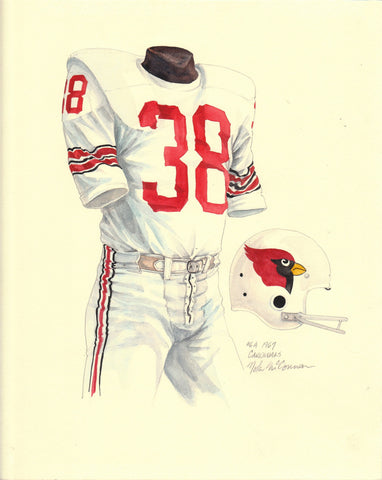 Arizona Cardinals 1967 - Heritage Sports Art - original watercolor artwork - 1