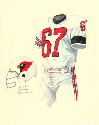 Arizona Cardinals 1979 - Heritage Sports Art - original watercolor artwork - 1