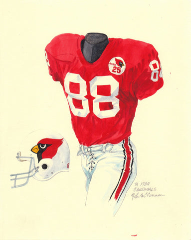 Arizona Cardinals 1984 - Heritage Sports Art - original watercolor artwork - 1