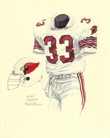 Arizona Cardinals 1985 - Heritage Sports Art - original watercolor artwork - 1