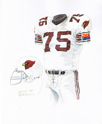 Arizona Cardinals 1988 - Heritage Sports Art - original watercolor artwork - 1