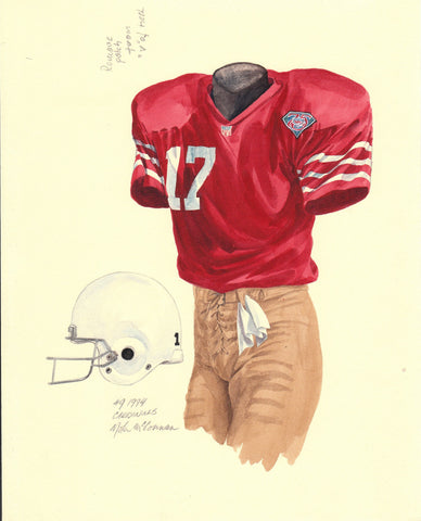 Arizona Cardinals 1994 - Heritage Sports Art - original watercolor artwork - 1