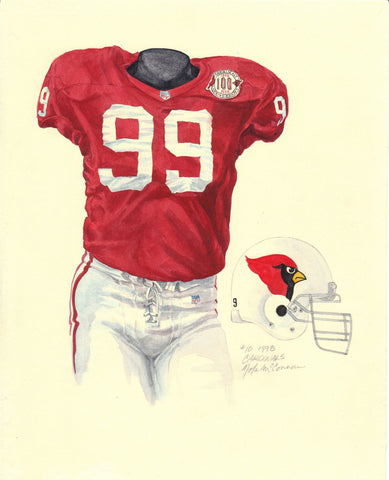 Arizona Cardinals 1998 - Heritage Sports Art - original watercolor artwork - 1