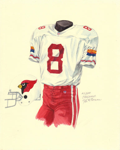 Arizona Cardinals 2001 - Heritage Sports Art - original watercolor artwork - 1
