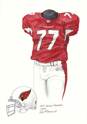 Arizona Cardinals 2005 - Heritage Sports Art - original watercolor artwork - 1