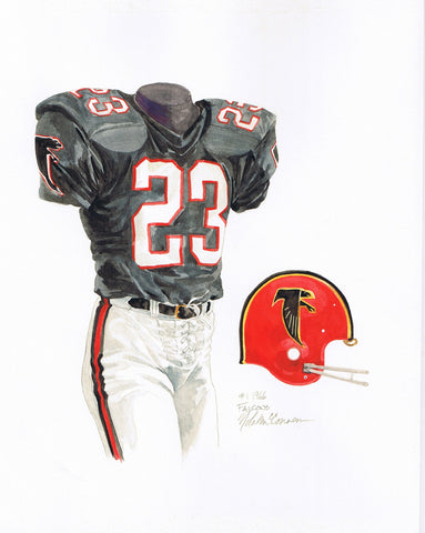 Atlanta Falcons 1966 - Heritage Sports Art - original watercolor artwork - 1