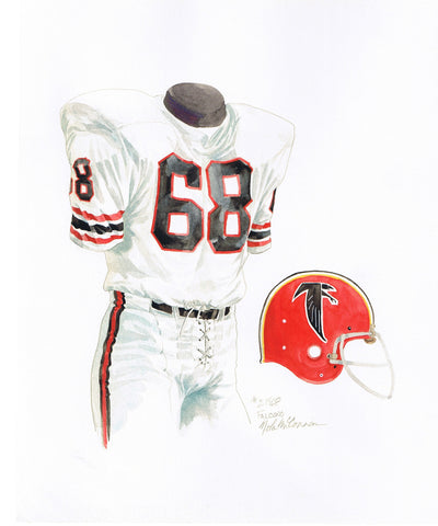 Atlanta Falcons 1968 - Heritage Sports Art - original watercolor artwork - 1