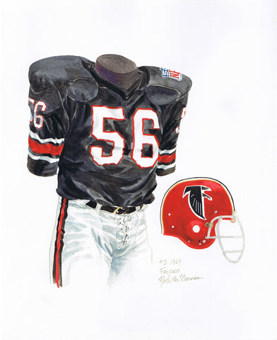Atlanta Falcons 1969 - Heritage Sports Art - original watercolor artwork - 1