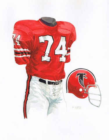 Atlanta Falcons 1971 - Heritage Sports Art - original watercolor artwork - 1