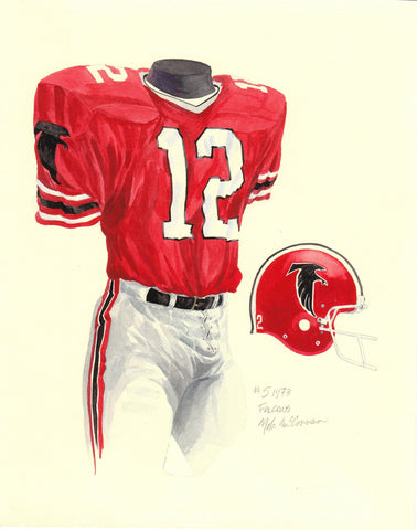Atlanta Falcons 1978 - Heritage Sports Art - original watercolor artwork - 1