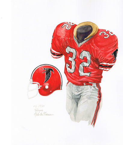 Atlanta Falcons 1980 - Heritage Sports Art - original watercolor artwork - 1