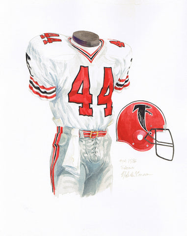 Atlanta Falcons 1986 - Heritage Sports Art - original watercolor artwork - 1