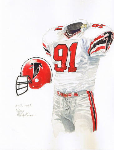 Atlanta Falcons 1988 - Heritage Sports Art - original watercolor artwork - 1