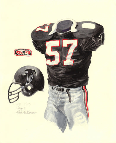 Atlanta Falcons 1990 - Heritage Sports Art - original watercolor artwork - 1