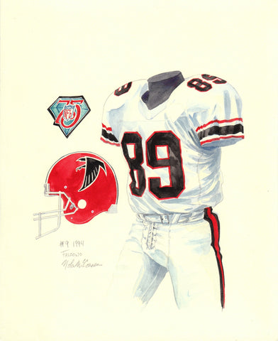 Atlanta Falcons 1994 - Heritage Sports Art - original watercolor artwork - 1