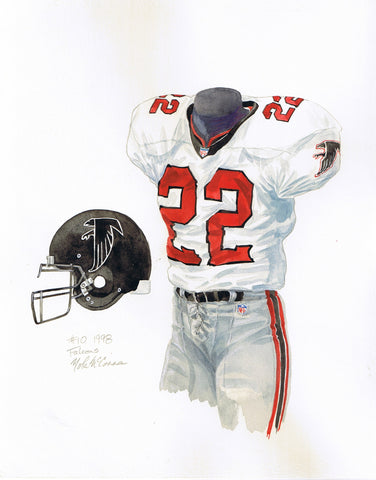 Atlanta Falcons 1998 - Heritage Sports Art - original watercolor artwork - 1