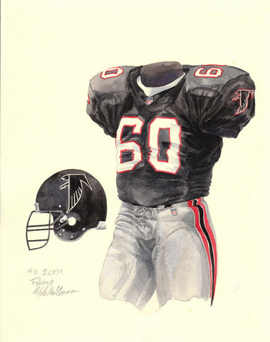 Atlanta Falcons 2001 - Heritage Sports Art - original watercolor artwork - 1
